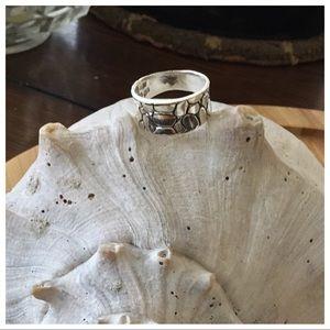 Vintage Jewelry - Vintage Sterling Silver Pebble Ring 6 3/4
